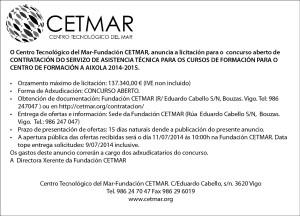 Anuncio CETMAR_Aixola'14-15